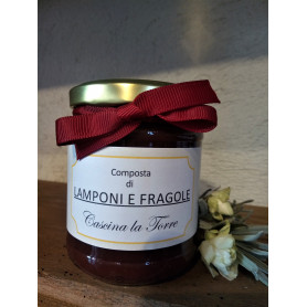 Composta di LAMPONI E FRAGOLE